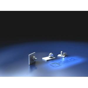 Carton de 100 clameaux rectangls promo menuiseries Alu et PVC