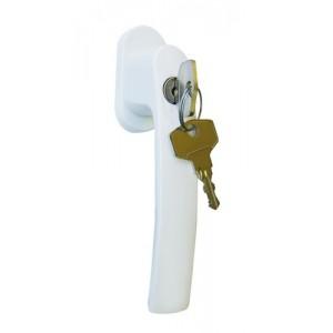 Poignée crémone avec clé pour fenêtre